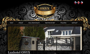 Screenshot webu Luxhotel ONYX
